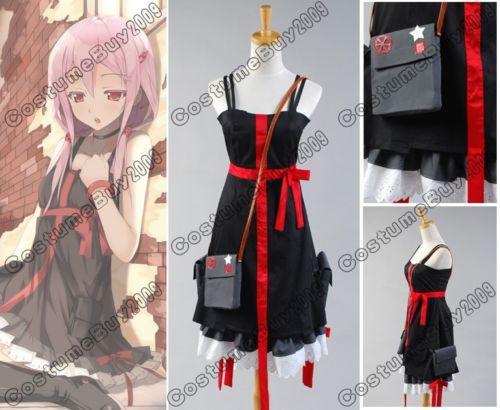 Anime Guilty Crown Inori Yuzuriha Cosplay Costumes For Women Dress Halloween Custom Made