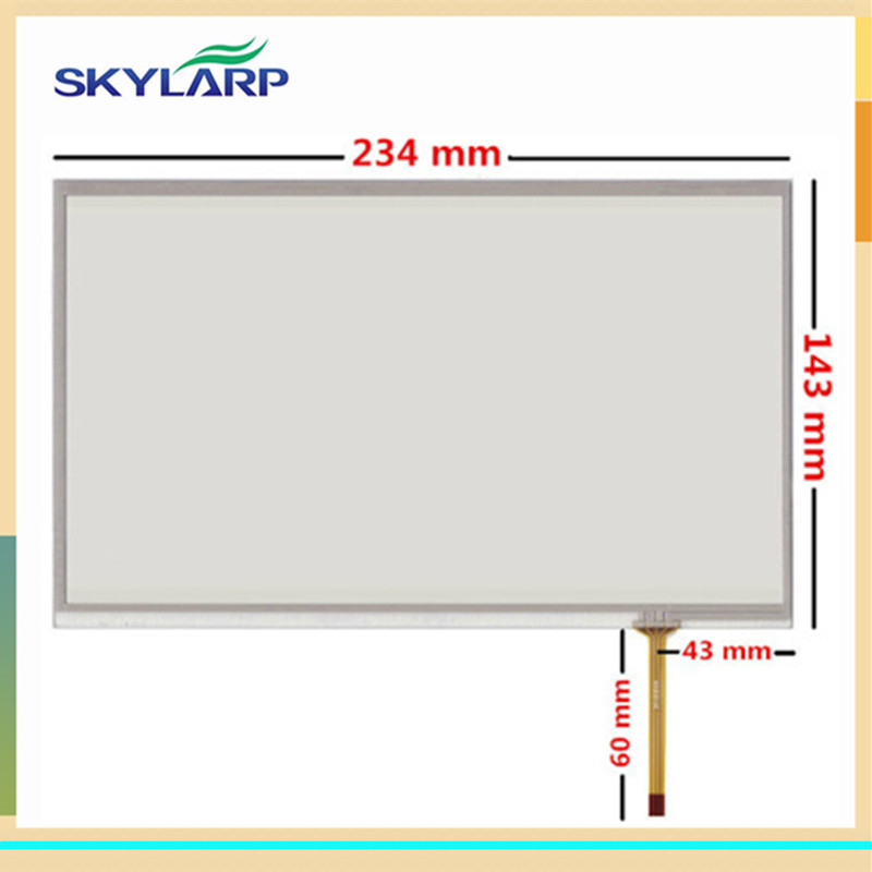 skylarpu 10.1 inch 4 wire Resistive Touch Screen 234mm*143mm Digitizer panel glass new 10 1 inch 4 wire resistive touch screen panel for 10inch b101aw03 235 143mm screen touch panel glass free shipping