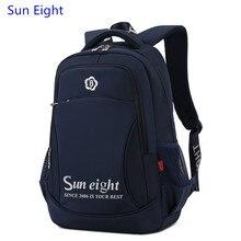Sun Eight high school backpack men travel bags male bag for laptop navy blue bagpack school