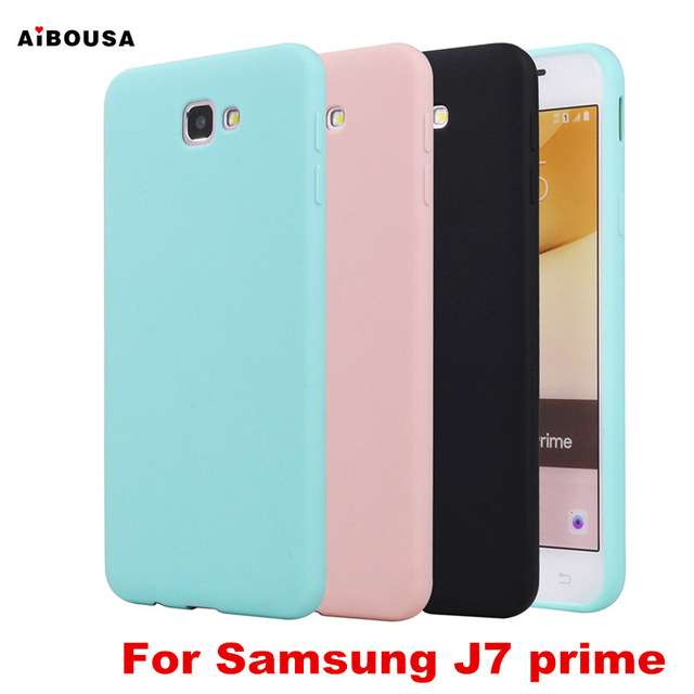 brand new 0d049 8293f US $1.49 |AiBOUSA J7 prime Cover For Samsung Galaxy J7 prime Case Candy  Silicone Rubber Phone Back Cover for Samsung J7 prime Matte Case-in ...