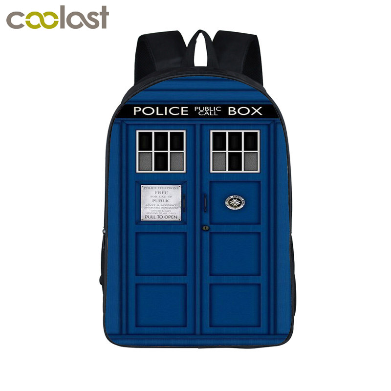 Tv Show Doctor Who Backpack For Teenagers Boys Girls School Bags Women Men Daily Backpack Children School Backpacks Kids Bag 16 inch anime game of thrones backpack for teenagers boys girls school bags women men travel bag children school backpacks gift