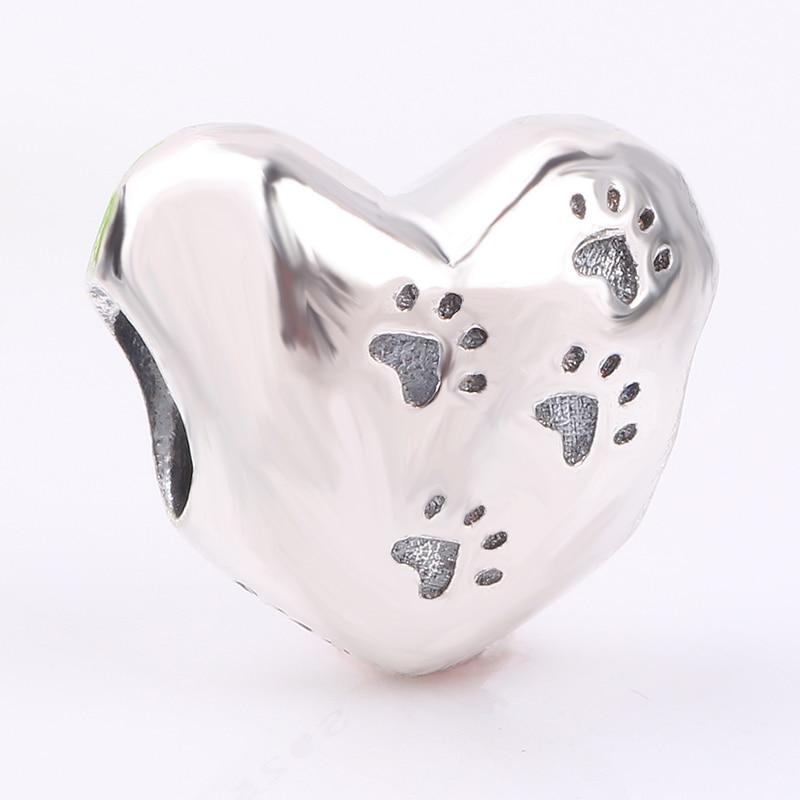 Ranqin Love Heart Charm Beads Fashion Women DIY Jewelry Making Fit Pandora Charms Silver 925 Original Bracelet Wholesale