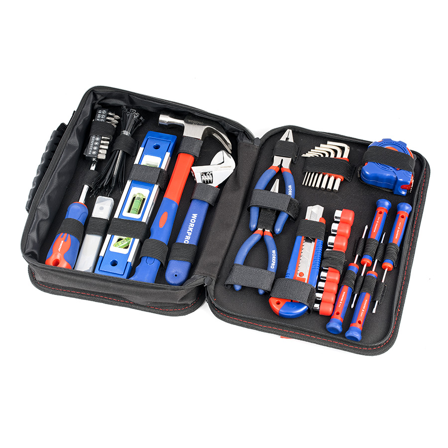 цена на WORKPRO Tool Set Hand Tools 100PC Household Tool Set Home Tools Knife Pliers Screwdrivers Sockets Wrenches New