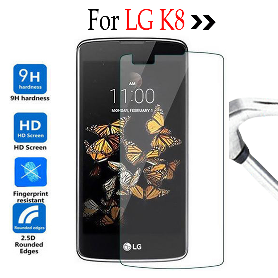 For LG K8 Premium Tempered Glass For LG K8 K 8 Lte K350 K350N K3500E K350DS Phone Screen Protector Cover Protective Film Case