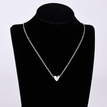 Hot heart shape popular romantic style zinc alloy silver plated necklace pendant