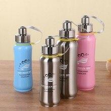 500 ML/800 ML botella de agua con infusor de té de Metal de acero Inoxidable frascos de vacío mi botella BPA libre Deportes botella de agua