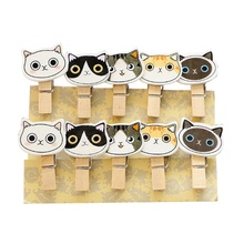 Funny Cute Cartoon Photo Clip Wood Clips Message Folder Clothespin Craft For DIY Party Decoration