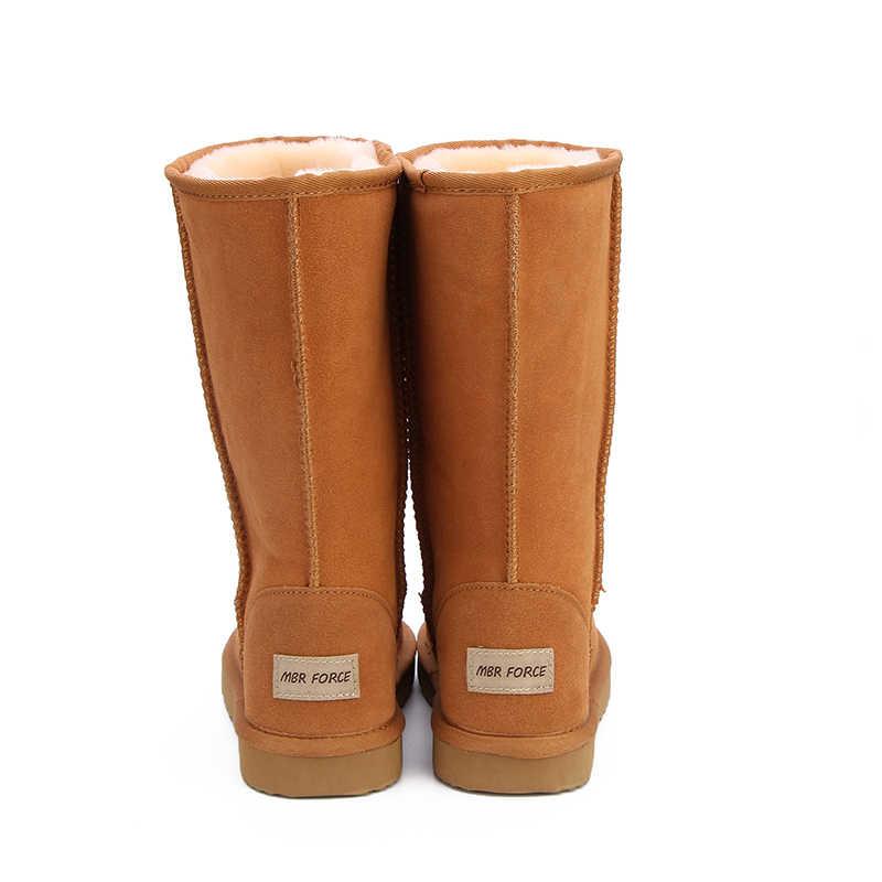 MBR Lực Lượng Chính Hãng Da Lông Thú Ủng Nữ Top Chất Lượng Cao Úc Giày Mùa Đông Giày Cho Nữ Ấm Áp Botas Mujer