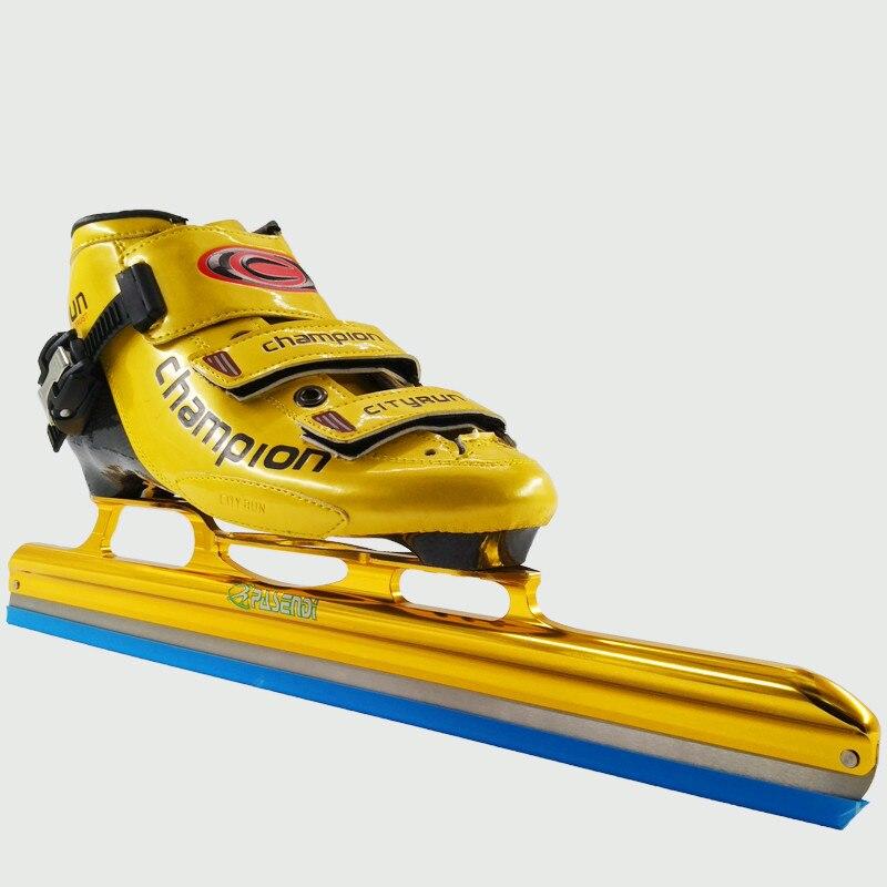 Prix pour Adultes Patins à roulettes patins de hockey sur glace Longue Boot 350mm 380mm 410mm 430mm Skate glace de Carbone lame Inline Vitesse patins Rouleau chaussures