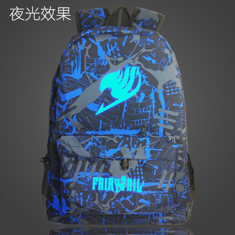 Japan Fairytail Night Luminous Harajuku Backpack School Bags for Teenagers Boys Girls Printing Reflective Bagpack Fairy Tail bag
