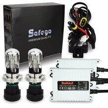 1 conjunto Safego 12 V AC 35 W H4-3 Bi-xenon H4 kit oi/lo BI-XENON HID 6000 K 8000 K 4300 K 10000 K para substituição de lâmpadas do farol do carro