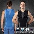 O Envio gratuito de Shapers do corpo Dos Homens Confortável Respirável-Secagem Rápida Vestuário Com Spandex Mangas Curtas Shaperwear