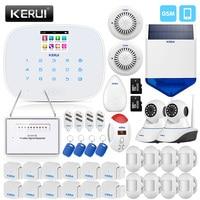 Keruil охранной сигнализации Главная GSM Системы с 2,4 дюймов экран TFT мини детектор движений двери Сенсор CO детектор дыма сирена