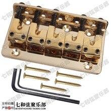 L shape string code five strings electric bass bridge tailpiece string distance 18MM golden zinc-alloy