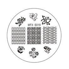 MiFanXi Rotundity 019 Nail Art Stamping Plates Manicure Stamping Template Image Plates Nail Stamp Plate Print Stencil