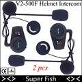 2 unids FreedConn Moto 2 Piloto Casco de La Motocicleta Intercom Headset GPS Bluetooth Sistema de Intercomunicación 500 M BT Intercomunicador Inalámbrico