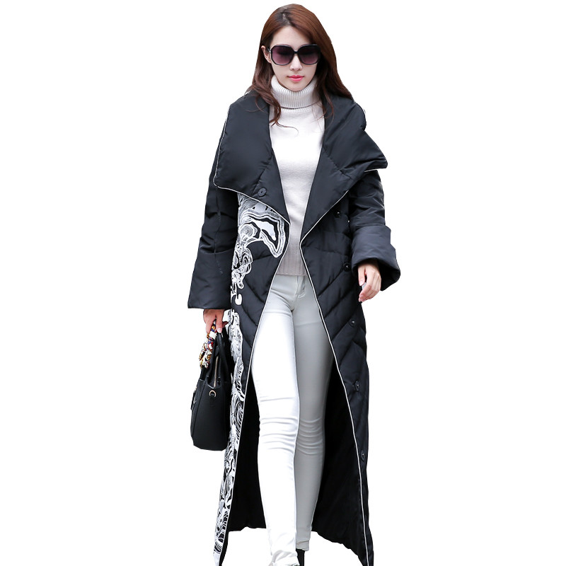 2017 New Hot Fashion female long section of thicker Korean long extended knee warm plus size loose Slim CC340 fundamentals of physics extended 9th edition international student version with wileyplus set
