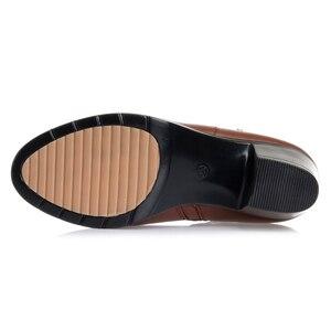 Image 5 - GKTINOO 2020 NEUE Mode Weichem Leder Frauen Stiefeletten High Heels Zipper Schuhe Warme Pelz Winter Stiefel für Frauen Plus größe 35 43