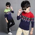 Niños Sweaters Para Niños Adolescentes Ropa Carta de Punto Suéteres de las Muchachas Tops de Algodón Ropa de Los Niños ocasionales 3 4 6 8 10 12 13 14 Años