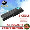 Atacado novo 6 células bateria do portátil para toshiba satellite l350 l355 p200 p205 p300 x200 p20d series pa3536u-1brs frete grátis