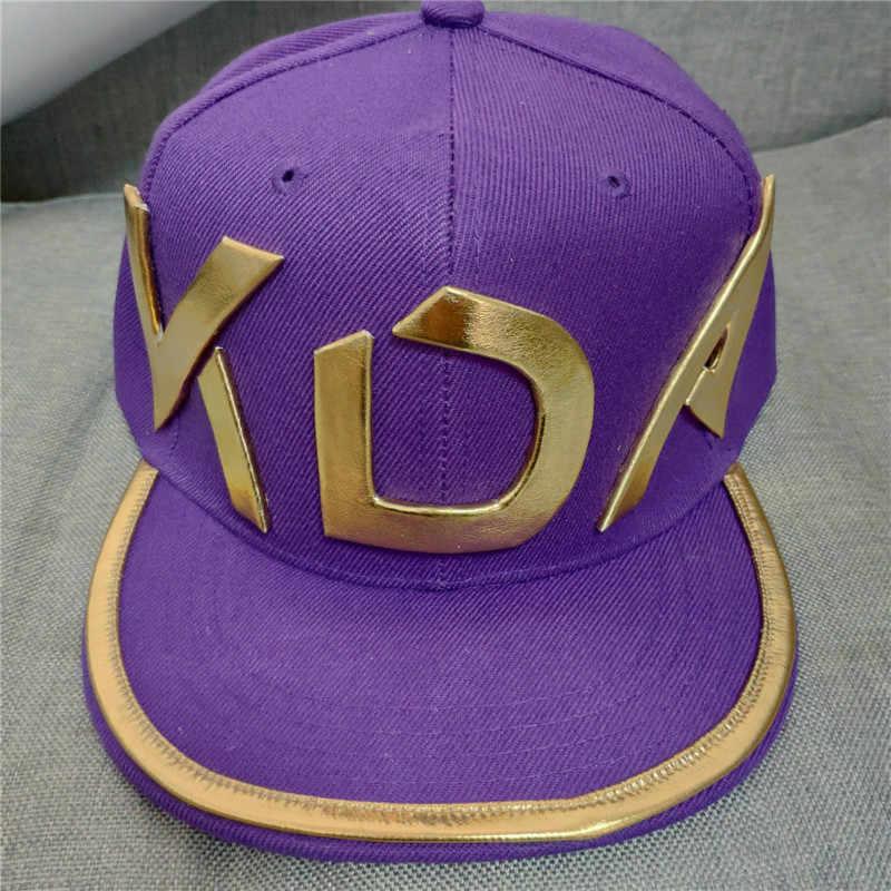 Акали косплей парик LOL KDA шляпа взрослый фиолетовый бейсбольная кепка Хэллоуин вечерние косплей реквизит