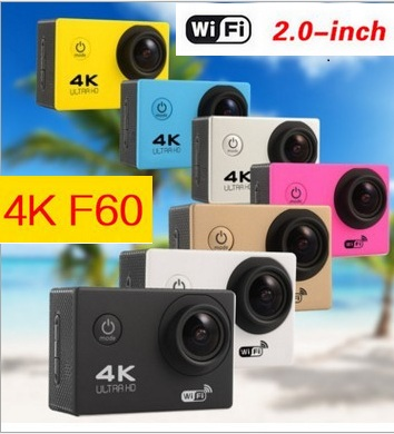 "Action camera F60 Allwinner V3 4K/30fps 1080P/60fps WiFi 2.0"" 170D 1080P Helmet Cam go 30M waterproof camera 4K Sport camera"