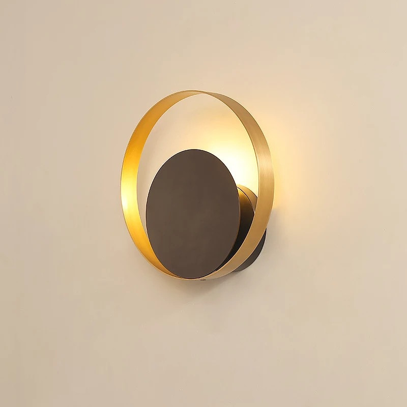 Industrial Loft Copper Ring LED Wall Lamp Bedroom Bedside Living Room Asle Wall Sconce Decoration Light Fixtures Free ShippingIndustrial Loft Copper Ring LED Wall Lamp Bedroom Bedside Living Room Asle Wall Sconce Decoration Light Fixtures Free Shipping