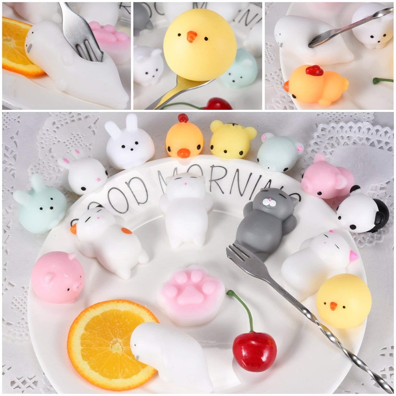 Squishy Soft Cute Cat Wipes Boot Ball Decompression Sticky Eliminate Pets Fun Stress Squishies Squeeze Friet Kit Toys