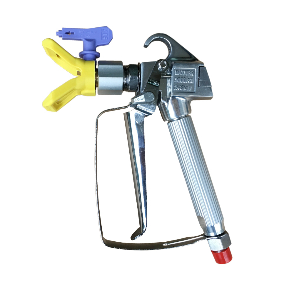 Airless Spary Gun Paint Gun Sprayer 3600PSI High Pressure with 517 Spray Tip & Guard стоимость