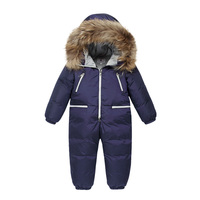 Winter Overalls for Girls Baby Boys Down Parkas Hooded Romper Children Jacket Jumpsuit Warm Thick Coat Tops Outwear Kids Clothes