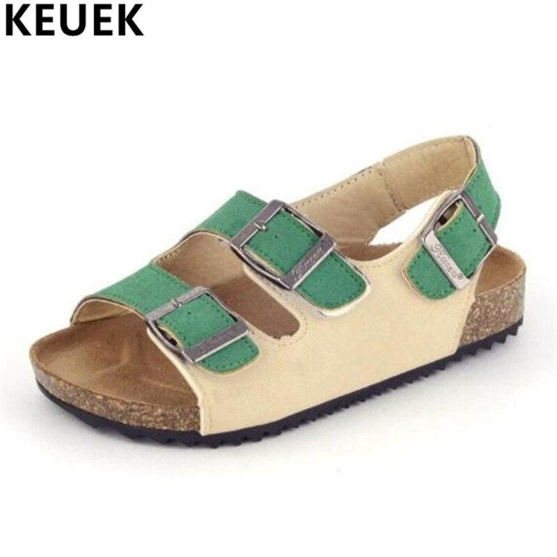 Новый летний Обувь детей Сандалии для девочек Обувь для мальчиков Обувь для девочек Пробковые сандалии детские плоские Каблучки открытым н... ...