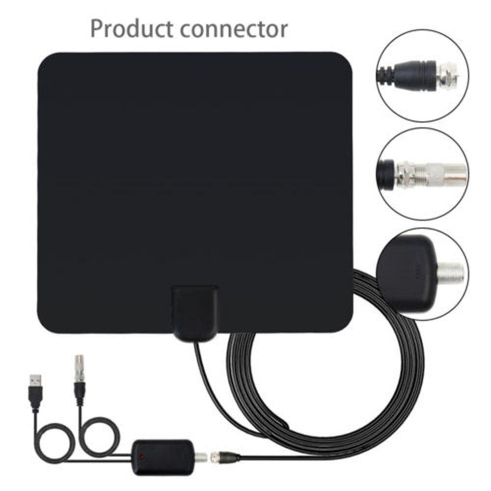 2019 antenne de télévision intérieure 1080 P amplificateur à Gain élevé Boost HDTV réception de Signal de télévision numérique ISDB ATSC pour récepteur DVB-T DVB-T2 Sat