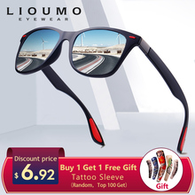 LIOUMO Design Ultralight TR90 Men Women Classic Retro Polarized Sunglasses Driving Outdoor Sport Goggle UV400 Gafas De Sol