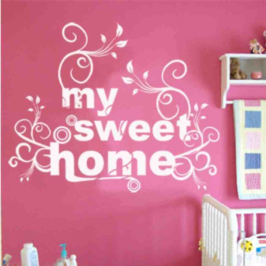 personalized home decoration vinyl wallpaper diy wall decals my sweet home painting wall art. Black Bedroom Furniture Sets. Home Design Ideas