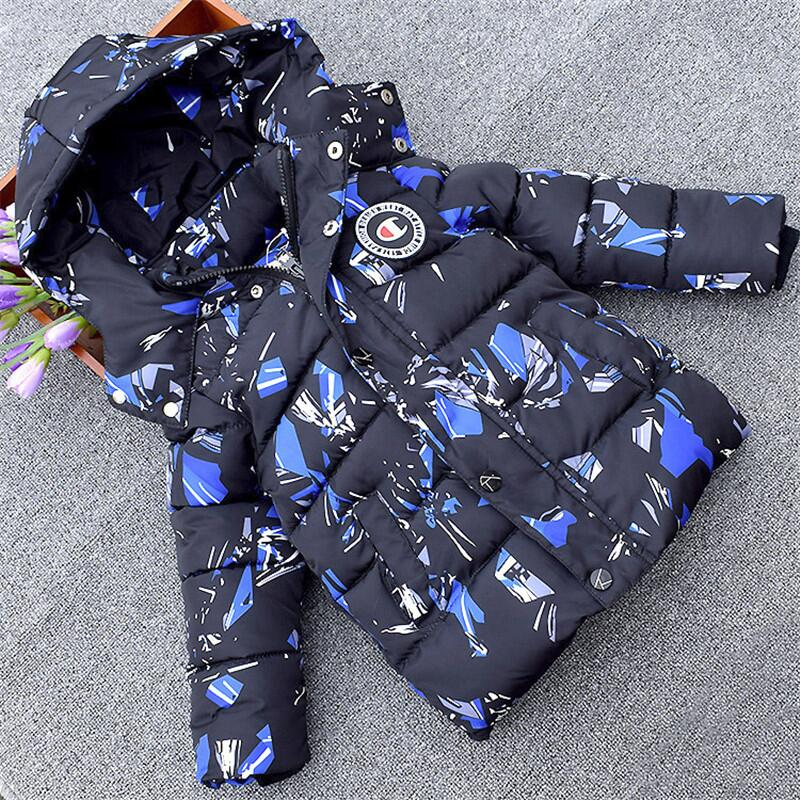 2018 Winter Jackets for Boys Warm Coat Children Clothing Snowsuit Outerwear & Coats Baby Boys Hooded Jacket Parkas Kids Clothes майка борцовка print bar gorillaz