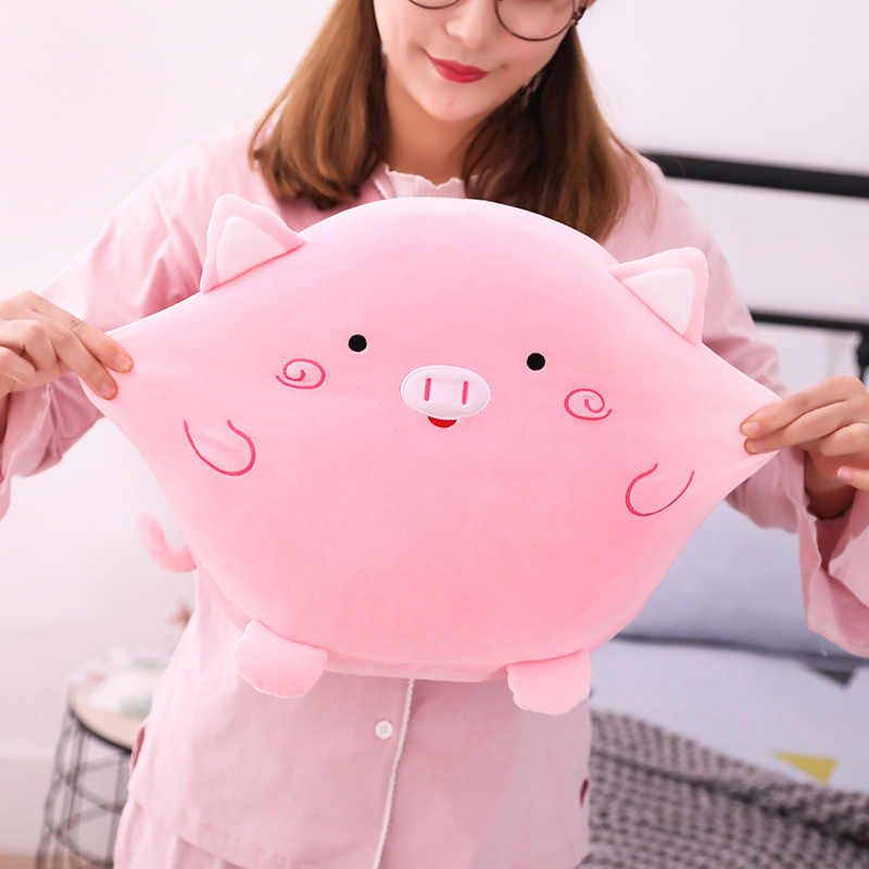 Bonito Unicórnio De Pelúcia Pato Gato Hamster Porco Bichos de pelúcia Brinquedos de Pelúcia com Cobertor Travesseiro Mão Mais Quentes Presentes do Aniversário Dos Miúdos Meninas