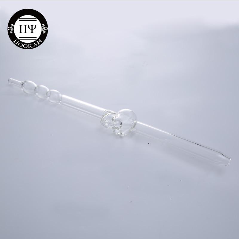 1 Pc Schädel Glas Mund Stück Für Glas Shisha Metall Shisha Clear Chicha Glas Rohr Narguile Hand Rohr Rauchen Zubehör Dinge FüR Die Menschen Bequem Machen