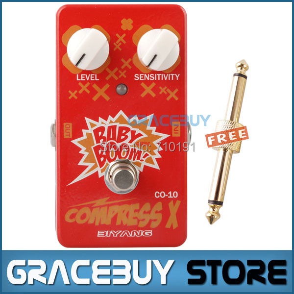 Biyang Baby Boom Series CO-10 Electric Guitar Bass Effect Pedal Compress X Compressor True Bypass biyang baby boom fz 10 electric guitar effect pedal three models fuzz star distortion true bypass musical instruments