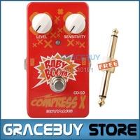 Biyang Baby Boom Series CO 10 Electric Guitar Bass Effect Pedal Compress X Compressor True Bypass