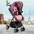 hot mom necessary cute pink high-landscape baby stroller 115cm height stroller iron frame bending handle cart for 0-3years baby