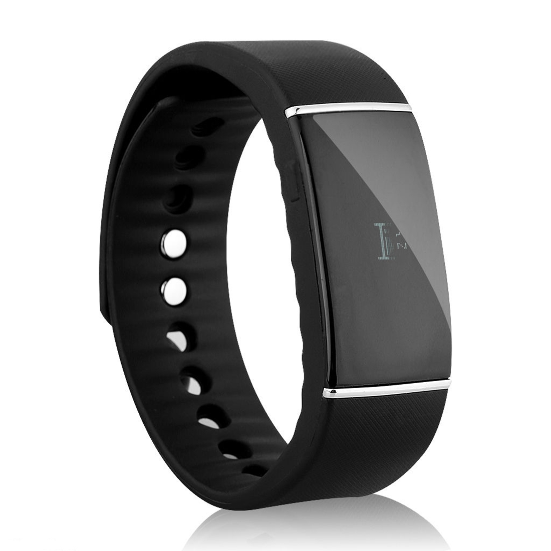 Bluetooth 4.0 Health Wristband Sport Fitness Tracker Sleep Monitor Smart Watch Black