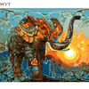 MYT The Elephant Landscape DIY Painting By Numbers Kits Drawing Painting By Numbers Acrylic Paint On