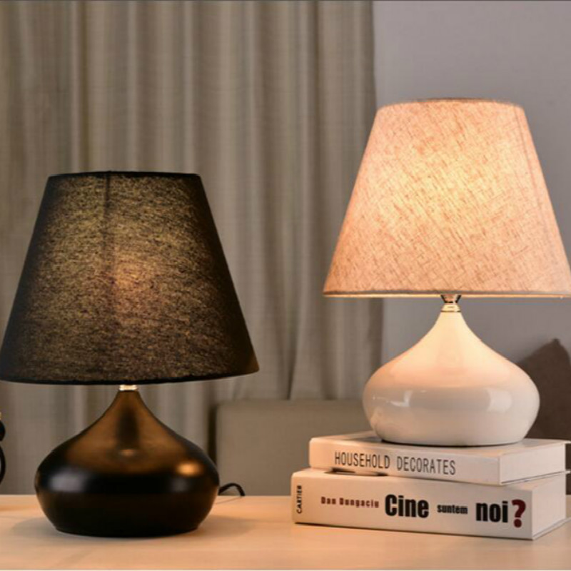 Modern Fashion Brief European Iron Fabric Led E27 Table Lamp For Bedroom Bedside Living Room Deco Lamp H 37cm 1042Modern Fashion Brief European Iron Fabric Led E27 Table Lamp For Bedroom Bedside Living Room Deco Lamp H 37cm 1042