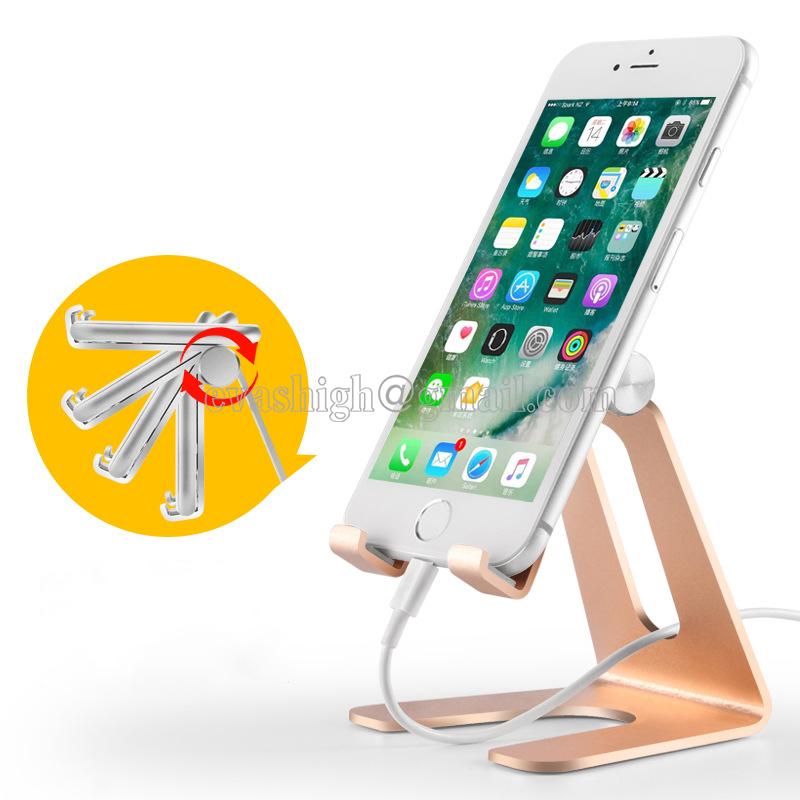 все цены на New Aluminum Alloy Cell Phone Display Stand Holder For Mobile Phone Live Bracket &iPad Tablet Display On Desktop Or Retail Shop