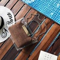 famous brand bag for women2018bali body bamboo handbag straw embroidered wicker bags beach designer spain rattan bag sac a main