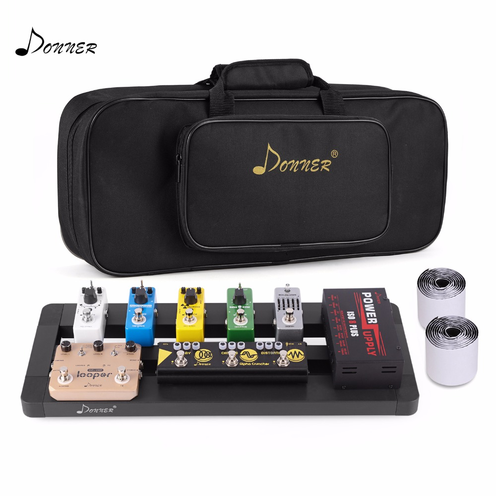 buy donner guitar pedal board case db 4 disassembled pedalboard with bag from. Black Bedroom Furniture Sets. Home Design Ideas