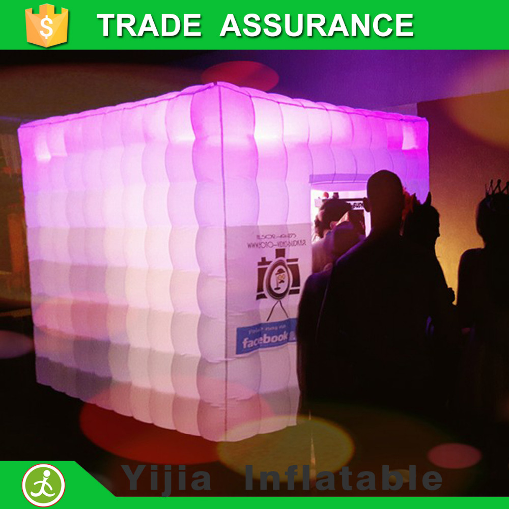 Color booth online - Free Shipping Oxford Cloth White Color Led Lighting Photo Booth Inflatable Photobooth For Sale