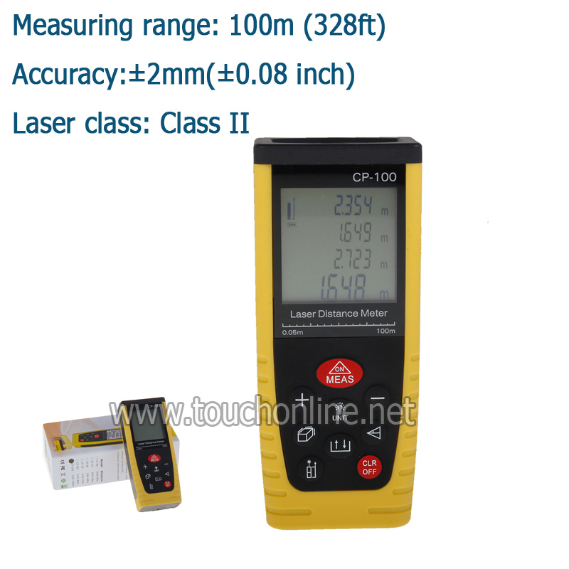 Livraison gratuite 100 m télémètre Laser Portable télémètre laser CP-100 classe II