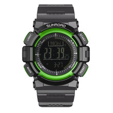SUNROAD Outdoor Sports Watch Men FR822B-Digital Compass Barometer Altimeter Pedometer New Arrival Green Clock relogio Watches