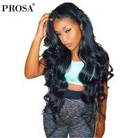 Синтетические волосы на кружеве человеческих волос парики для женский, черный объемная волна 13X4 шнурка Полный толщиной 250 плотность бразил